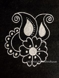 Rangoli Borders, Rangoli Border Designs, Rangoli Patterns, Rangoli Ideas, Rangoli Designs Images, Mehandi Designs, Henna Patterns, Free Hand Rangoli Design, Small Rangoli Design