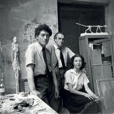 Liberman, Alexander - Alberto Giacometti, Diego Giacometti and Annette Arm (1951)