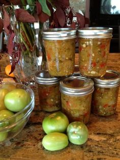 Green (Un-Ripe) Tomato Salsa for Canning -this salsa is so good and amazing use of all those green tomatoes left! It also freezes nicely