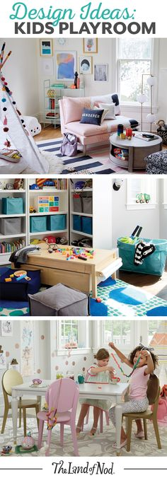 Searching for kids playroom ideas? The Land of Nod has tons of inspiration for every girls or boys playroom design. We all know that any playroom should be filled with personal and stylish details. That's why we've got a mega lineup of kids furniture, sto Playroom Design, Playroom Decor, Kids Decor, Playroom Ideas, Home Decor, Kid Playroom, Playroom Table, Decor Ideas, Playroom Organization