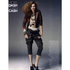 Vogue British Editorial More Dash Than Cash, October 2009 Shot #3 -... ❤ liked on Polyvore featuring editorials