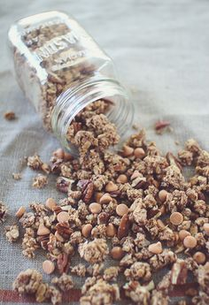Pecan Pie Granola~ Good for Breakfast, a Snack, or even Dessert! I'm Telling You- This Granola is SOOO Good!   (Low Sugar, Gluten Free, Clean Eating)