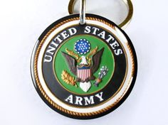 Military Army Green Logo Custom ID Tags for dogs and cats