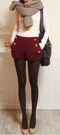 Simple fall outfits leggings, short and sweater. . . click on pic to see more