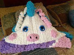 Crochet Unicorn Blanket...FREE PATTERN - Bernat Blanket Yarn