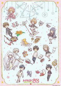 Sakura and friends Cardcaptor Sakura, Sakura Card Captor, Sakura Kinomoto, Syaoran, Manga Anime, Anime Art, Magic Knight Rayearth, Xxxholic, Clear Card
