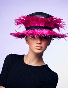 Rosie Olivia London Hat Designer creates luxurious, fun hats with a modern twist using the finest materials Fancy Hats, Cool Hats, Royal Ascot Ladies Day, Ascot Hats, Crazy Hats, Kentucky Derby Hats, Wedding Hats, Hats For Women, Ladies Hats