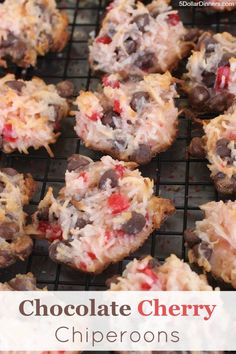 New Holiday Baking Recipe ~ Chocolate Cherry Chiperoons | 5DollarDinners.com