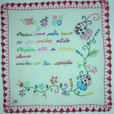 Handkerchief Sewing Stitches, Embroidery Designs, Cross Stitch, Notebook, Bullet Journal, Minho, Counting, Portugal, Pattern