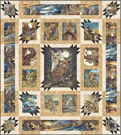 North American Wildlife eQuilter Free Pattern - personalize your own at http://www.equilter.com/pattern/788/north-american-wildlife?fn=pa_20161124194600