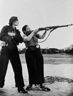Republican militia women training in Barcelona, Spain - August 1936