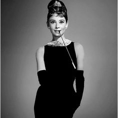 Dress up like Audrey Heburn for a costume party.