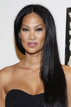 """Kimora Lee Simmons uses vaseline on her eyeshadow. """"A little dab on top of eyeshadow creates such a great evening effect."""" via Marie Claire"""