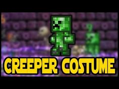Minecraft Creeper Costume in Terraria! New Vanity Set! Terraria Halloween Update. Terraria HERO