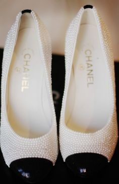 pearl Chanel shoes! If I could think of my ideal shoe.. That'd be it!