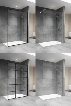 Die Duschwand Bella Vita 3 Walk-in ist neu in unterschiedlichen Farben und mit zwei verschiedenen Decors erhältlich. Home Projects, Alcove, Bathtub, Bathroom, Houses, Bath, Home, Luxury, Colors