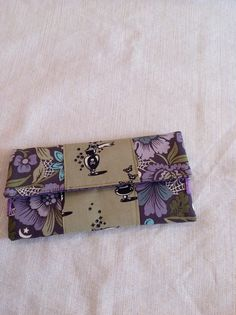 Nightshade Floral and Potion Bottles Purple and Green Fashion Bifold Wide…