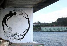 Beginning of a family tree - Street Art Collaboration By David De La Mano and Pablo S. Herrero In Porto, Portugal. 1