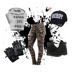 A fashion look from August 2015 featuring sports shirts, skinny pants and black ankle bootie. Browse and shop related looks. Sports Shirts, Skinny Pants, Ankle Booties, Reebok, Fashion Looks, Style Inspiration, Sheriff, Timberland, Respect