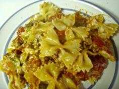 Cheesy Italian sausage pasta