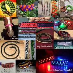 BRAND NEW #MondayMedley !! Share this collage around to show off the work of our awesome fans!  Which of these paracord workings is your favorite?!  #paracord #craft #prepper #survival #DIY