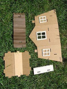 Cardboard Display House by Rosemary Travale, via Flickr