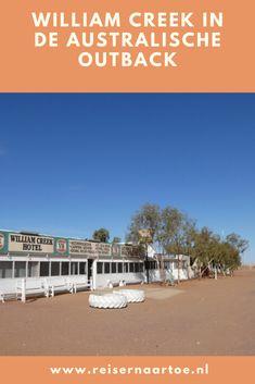 William Creek is een plaatsje aan de Oodnadatta Track met niet meer dan een hotel, een camping, een benzinepomp en een vliegveldje. We worden er hartelijk ontvangen door Rose. Zij beheert het hotel, de pub, de camping, de benzinepomp.  #reisblog #reisinspiratie #australië Camping, Beach, Water, Outdoor, Campsite, Gripe Water, Outdoors, The Beach, Beaches