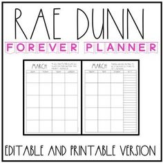 Love Rae Dunn? Love being organized? Then this planner is perfect for you! You can print, bind, and write in it, edit it strictly on the computer, OR edit and print! It is perfect to help you stay organized throughout the year. Teacher Must Haves, New Classroom, Classroom Ideas, Teacher Organization, Organizing, Teacher Boards, Teacher Planner, Printable Planner, Printables