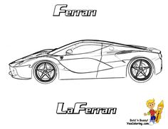 Free Ferrari Coloring For Boys Easy Colouring Pictures And Difficult Cars Of Autos Print Out Models Enzo Scuderia
