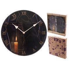 Midnight Vigil Fantasy Cat Design Decorative Wall Clock