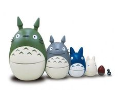 Matriochka Totoro figurines