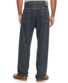 Nautica Big and Tall Men's Jeans, Relaxed-Fit Jeans - Brown 48x36