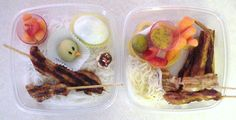 Ya, my first bento supper dish - needs work I know, but it's the thought that counts, right?!