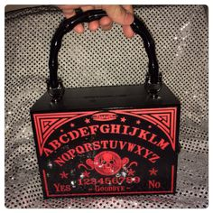 Red Talking Board Cigar Box Purse by PhantomBoxPurses on Etsy, $40.00