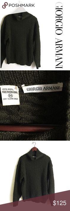 Giorgio Armani Wool Sweater ▫️Giorgio Armani Sweater  ▫️Made in Hong Kong ▫️100% Wool  ▫️Fit: Oversized (see measurements) ▫️Great Preowned Condition Giorgio Armani Sweaters