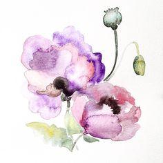 Purple Flower Watercolor