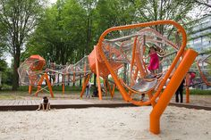 playground-osdorp_oever-by-Carve « Landscape Architecture Works Kids Play Spaces, Kids Play Area, Natural Playground, Outdoor Playground, Modern Playground, Urban Landscape, Landscape Design, Cool Playgrounds, Parc A Theme