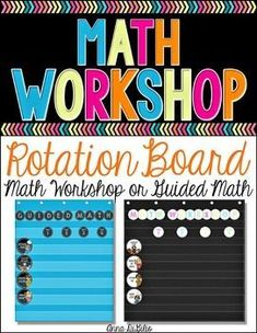 Guided Math - Math Workshop - Guided Math Rotation Board  Have you jumped head first into implementing a Guided Math or Math Workshop approach for your daily math instruction?  If so, this resource is for you! #simplyskilledinsecond #guidedmath #teachingresources #2ndgrade #rotationboards