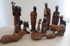 Carved maninga/ebony nativity - Tanzania