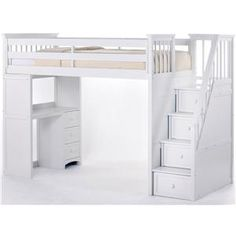 Loft Bed With Desk And Stairs - Room Design Ideas