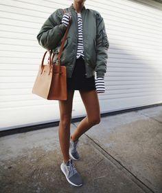 MOTHER | denim / IRO | attila bomber jacket / MANSUR GAVRIEL | lady bag & sun bag / ADIDAS | tubular