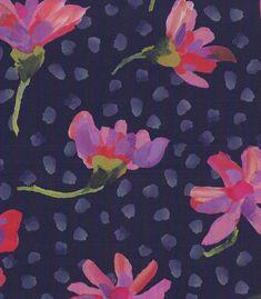 Tissu liberté Arts and Crafts en bleu par le demi mètre