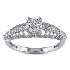 Miadora Signature Collection 14k Gold 3/4ct TDW Diamond Ring