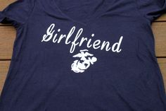 GIRLFRIEND T SHIRT can be customized for any branch. by AmyJaneBeauty on Etsy #USMC #military #militarylove #militarygirlfriend #usmcgirlfriend #usmcwife #usa #navy #milso #army #navygirlfriend #navywife #armygirlfriend #armywife #airforce #airforcewife #airforcegirlfriend