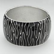 Silver Tone Zebra