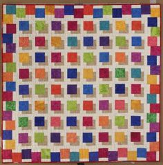 Here is another floating squares quilt.  I want to do one of these like stepping stones over a pool.
