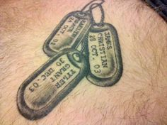 Cool idea- tags could include both my grandfather's, my dad, my mom, my brother and their service dates.