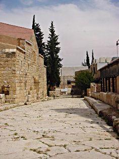 Roman street, Madaba, Jordan http://exploretraveler.com http://exploretraveler.net