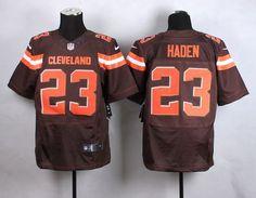 Nike Browns #23 Joe Haden Brown Team Color Men's Stitched NFL New Elite Jersey