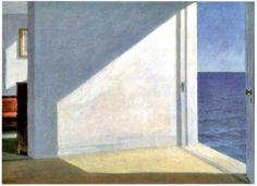This work by Edward hopper shows how an opening can change the lighting of a room and also in doing so change the atmosphere and mood of the room.